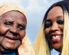 a caregiver and a senior woman smiling